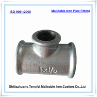 female thread galvanized malleable iron reducing tee