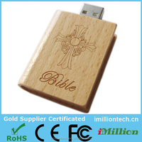 Wood Book Shape Usb 2.0,Book Shaped Usb Flash Drive With full color Logo Printing,Custom wood Book Shape USB