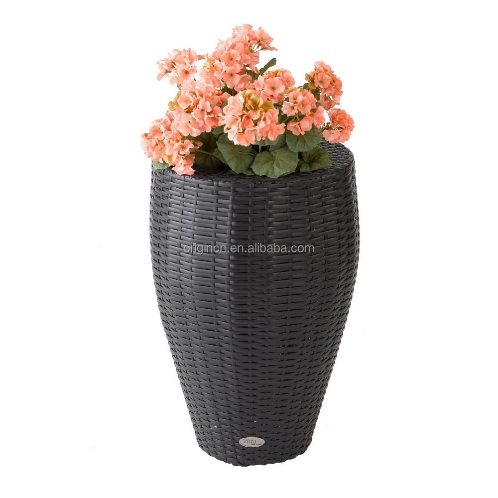 Belle maison à lintérieur ou en plein air haute fleur jardin pot grand rotin