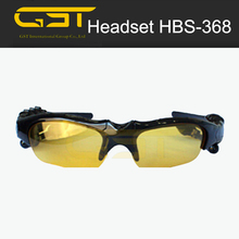 Multi-function bluetooth glasses with handsfree calling listen play functions HBS-368 sunglasses bluetooth earphone