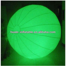 Beautiful green inflatable lighting balloon/lighting Adv balloon inflatables for decoration