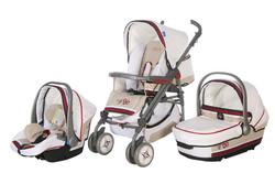 Lightweigh aluminum frame deluxe baby stroller 3 in 1