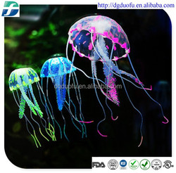 aquarium decorate artificial silicone dried jellyfish, jellyfish paperweight