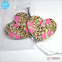 Guangzhou promotional gift 2016 hanging car odors custom printed paper air freshener