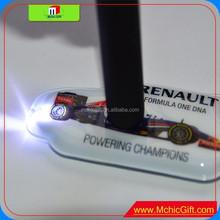 full color brand custom shape pvc press led rubber led key tag