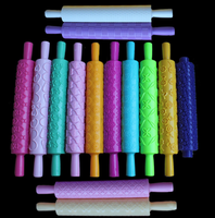 Cake decorating plastic rolling pin