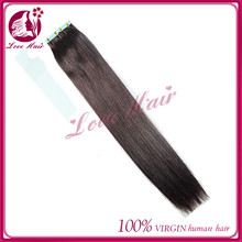 14 16 28 30 inch human tape hair extension skin weft hair color #99J swatch for overseas brazilian straight hair