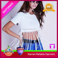 2015 wholesale new custom ladies garments exporter, sexy lady plain loose crop top