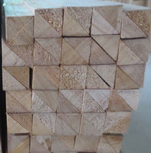 Wood chamfer strip with triangle shape