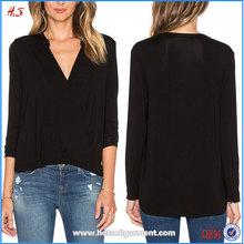 Images of Ladies Casual Tops Wholesale Ladies Blouse Long Sleeve Surplice Top & Blouse