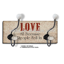 LOVE decorative coat hooks