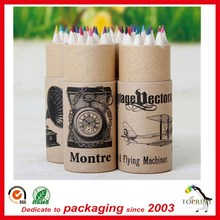 round paper pencil cardboard tube paper pen tube with recycled paper