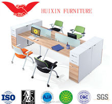 New 4 people office desk/office and school supplies/design layout T-8707