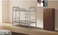 2015 hot sale Cheap Adult Iron Metal Triple Bunk Bed, Heavy Duty Triple Frame Bunk Bed Used in School Dormitory