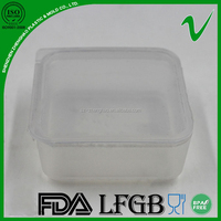 HDPE clear food grade plastic food container