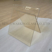 clear Low expansion glass ceramic for fireplace