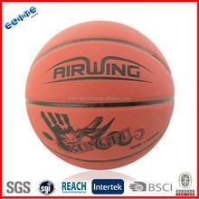 Laminated 1.6mm Cooldtry PU basketball ball 2016