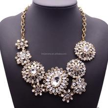 India Jewelry Promotion Crystal Collar Bib Statement Necklace JQX0039