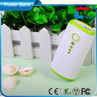 Portable universal power bank mobile phone with LED flash light