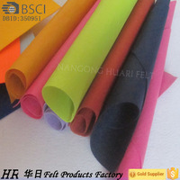 Nonwoven fabric industrial felt colours polyester needle Felt