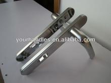 Satin chrome brushed zinc alloy door handles,revolving door handles