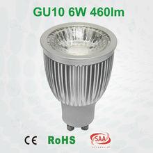 Super brightness 6W 500LM COB spotlight 100% replace 50W halogen high CRI 80 GU10 LED Spotlight