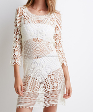 sexy cocktail lace dress with 3 quarter sleeve evening dress with mini skirt