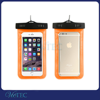 PVC waterproof mobile phone bag for iphone 6 plus, suit for 99% smartphone waterproof bag