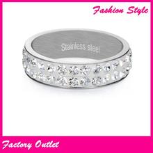 2015 nueva venta al por mayor anillos de pedida de acero inoxidable de diseño de moda