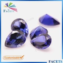 FACETS GEMS Customizing Pear Cut 32# Pear Cut Lab Created Sapphire Stone Price