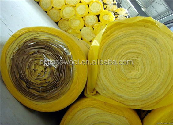 glass wool roll 20kg/m3 25mm non conductive materials