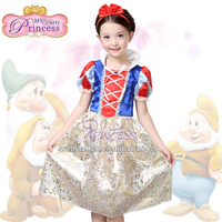 FREE SHIPPING BY China Post Mail Girls' 2015 Summer Dresses Snow White Princess Birthday Dress For Baby Girls