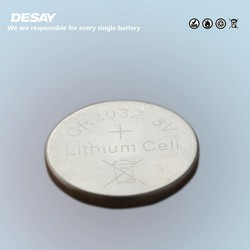 round CR2032 3.0v li- ion button dry cell battery cell