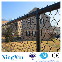 Alibaba China metal chain link fence, Security Chain Link Fence, Black Vinyl Chain Link Fence (Pd - 037)