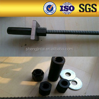 Screw thread steel bars and accessories from China manufacturers