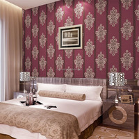 Cheap priced 3d bedroom korea designer wallpaper for home decoration