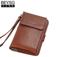 Genuine Leather Phone Bag for Iphone/ Samsung Wallet Holder for Unisex