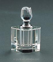 wholesale glass rose top perfume bottles empty perfume bottles for wedding favor