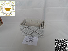 Hot New Product fabric storage baskets in square shape black color