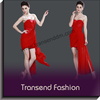 Transend High class red strapless bodycon cocktail dress wholesale