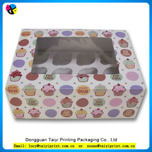 Hot selling super quality 12 mini cupcake box with window