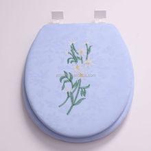 Embroidery design toilet seat,soft toilet seat, soft toilet seat cover