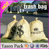 Yasonpack 100 gallon trash bags yellow dog garbage bags ldpe trash bag