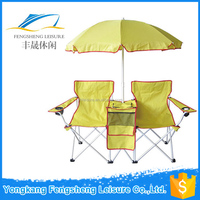 Picnic Double Folding Chair / Umbrella Table Cooler Fold Beach Camping Chair