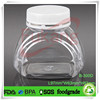 300ml plastic candy jars and screw top lids,PET plastic dried food grade container,wholesale clear plastic food bottle