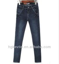 2014 versión nuevo estilo sexy de moda las niñas skinny jeans ajustados