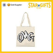 Promotional custom made 10OZ CMYK tote recyclable canvas shopping bag