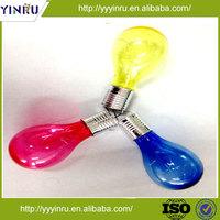 Plastic colorful decoration solar led light,christmas LED bulb lighting