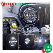 Factory direct sale round 7'' Jeep h.arley 75w led headlight