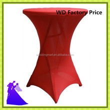 China supplier high bar cocktail table cover & spandex table cloth for wedding